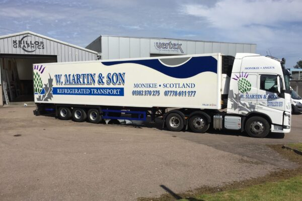 W. Martin and Son lorry outside Keillor
