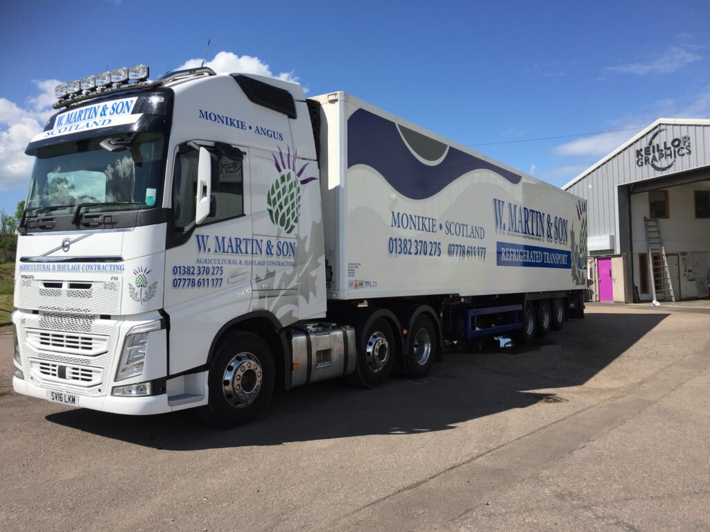 W. Martin and Son lorry livery work