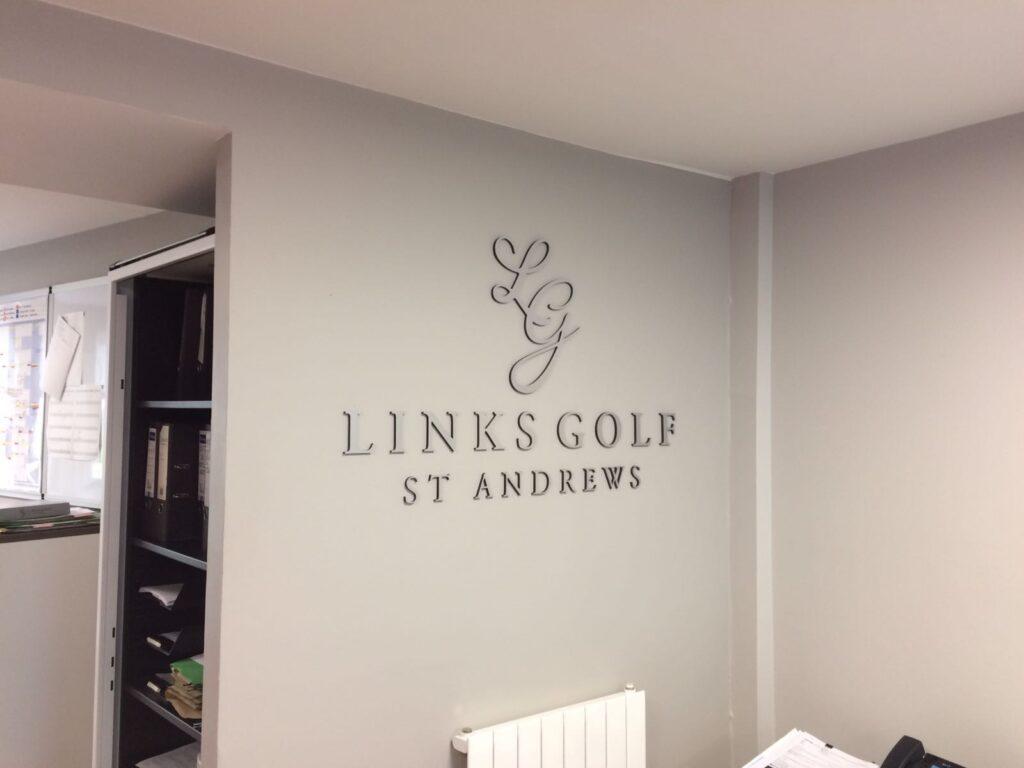 Branding for links golf st andrews