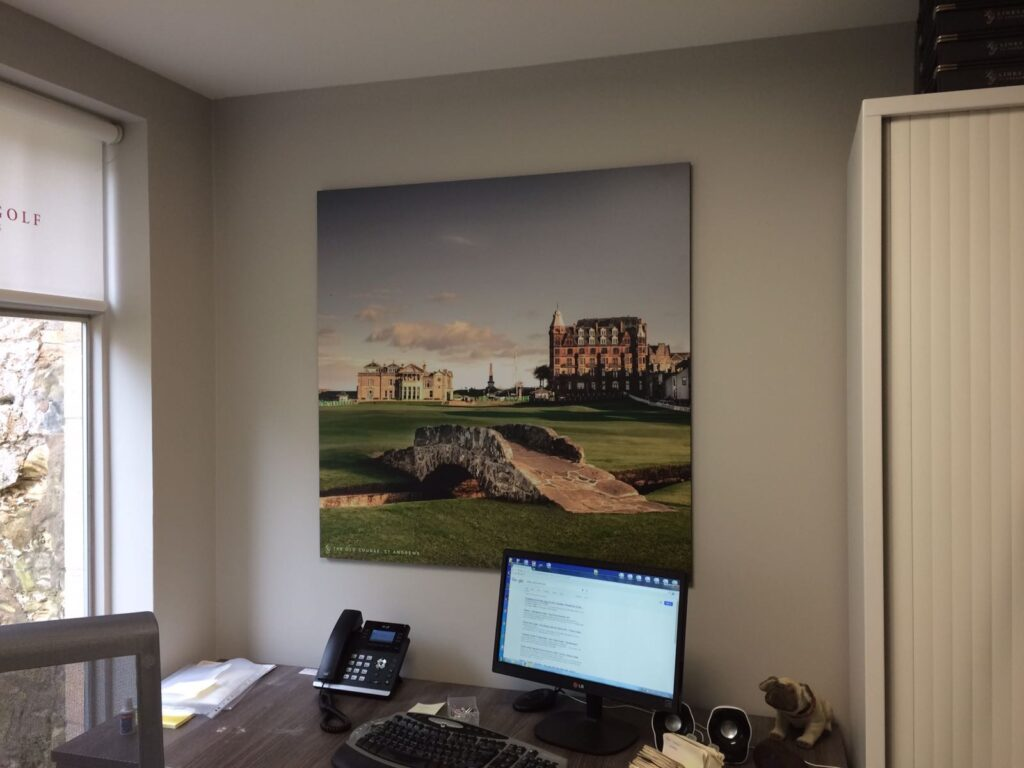 St andrews golf course wall canvas