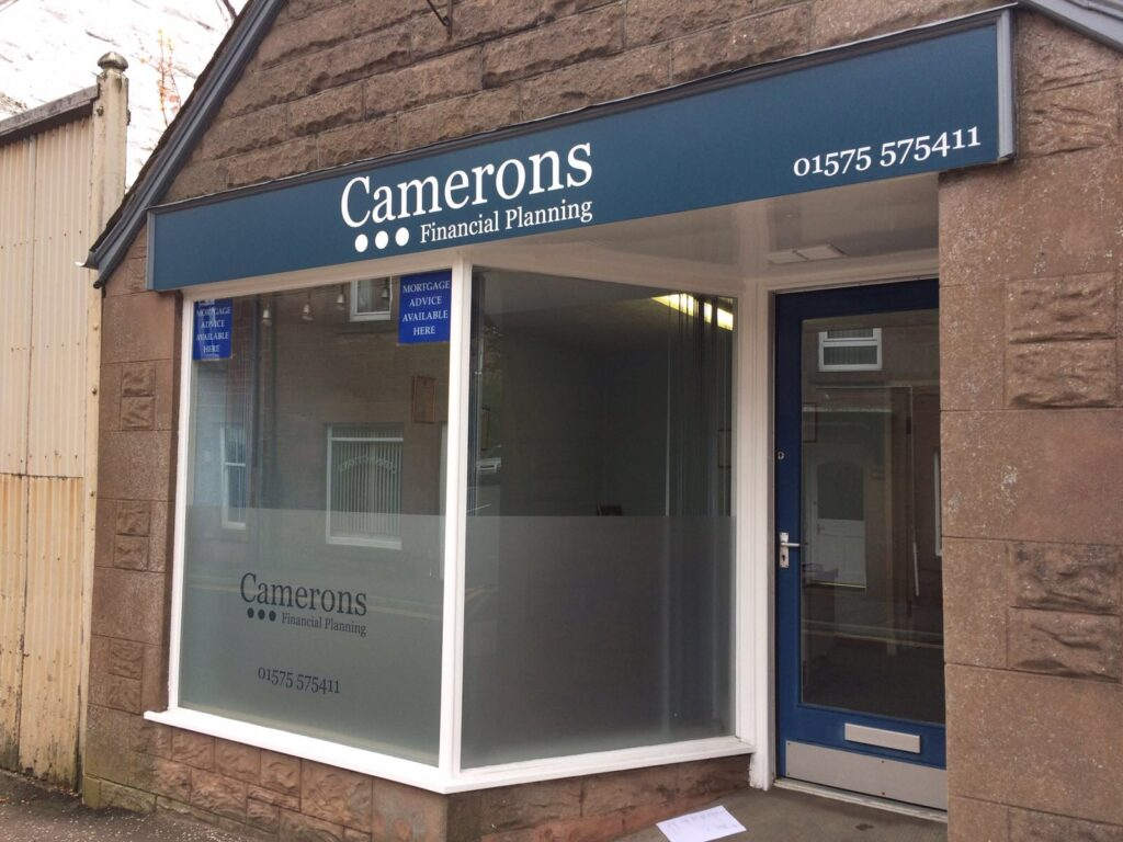 Fascia work for Camerons financial planning