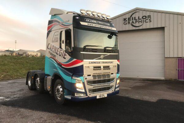 carnegie lorry outside factory