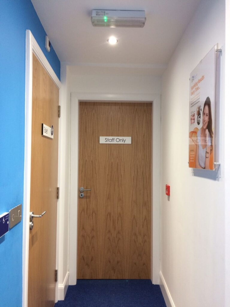 Staff only signage for ESK Dentists