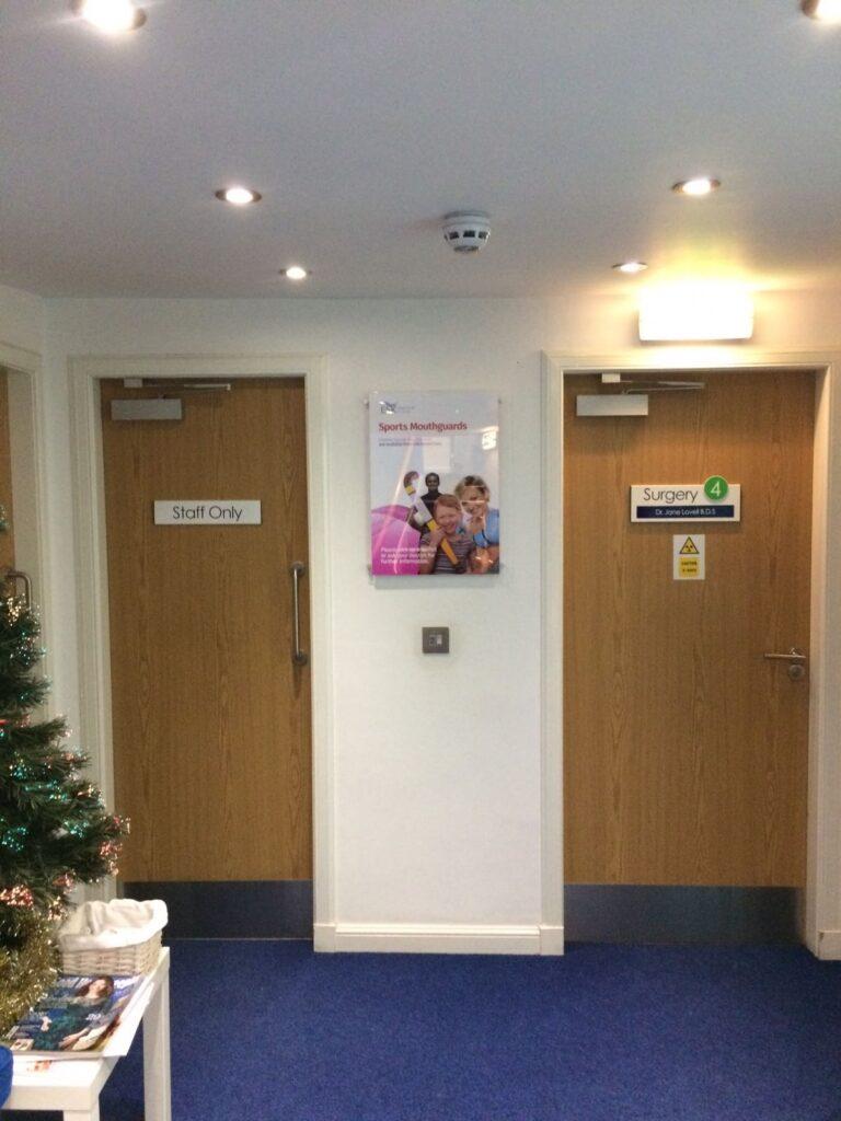 Room signage for ESK Dental care