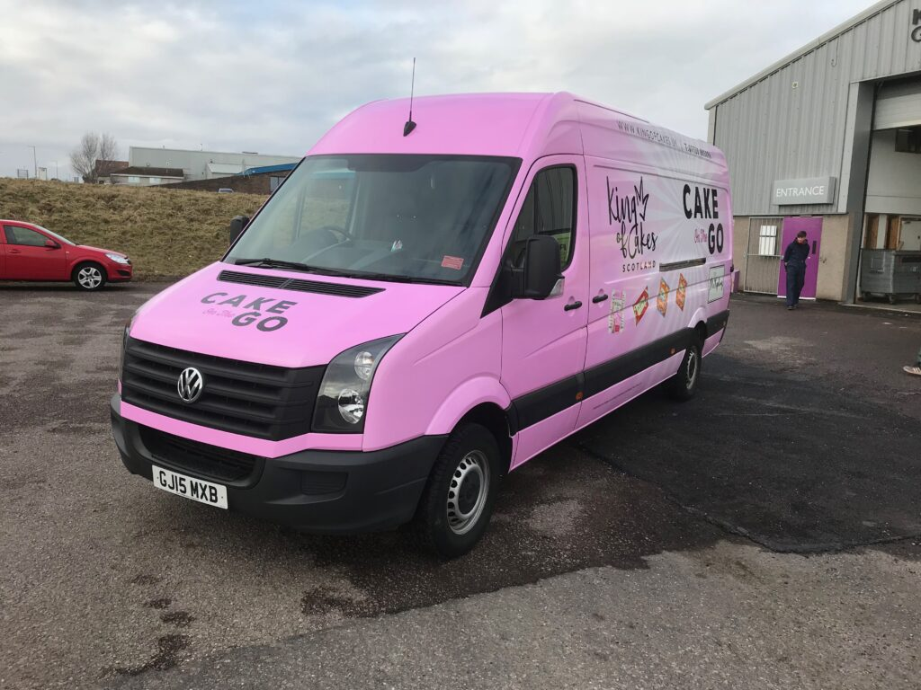 livery on cake and go van