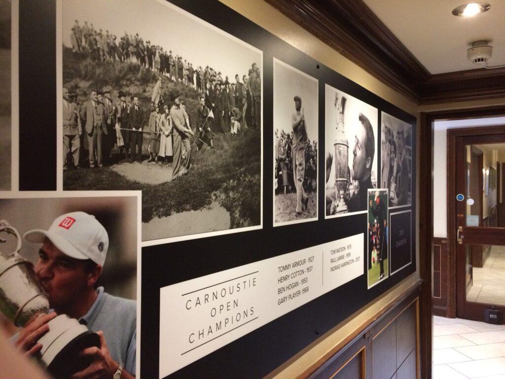 Carnoustie Open Champions board