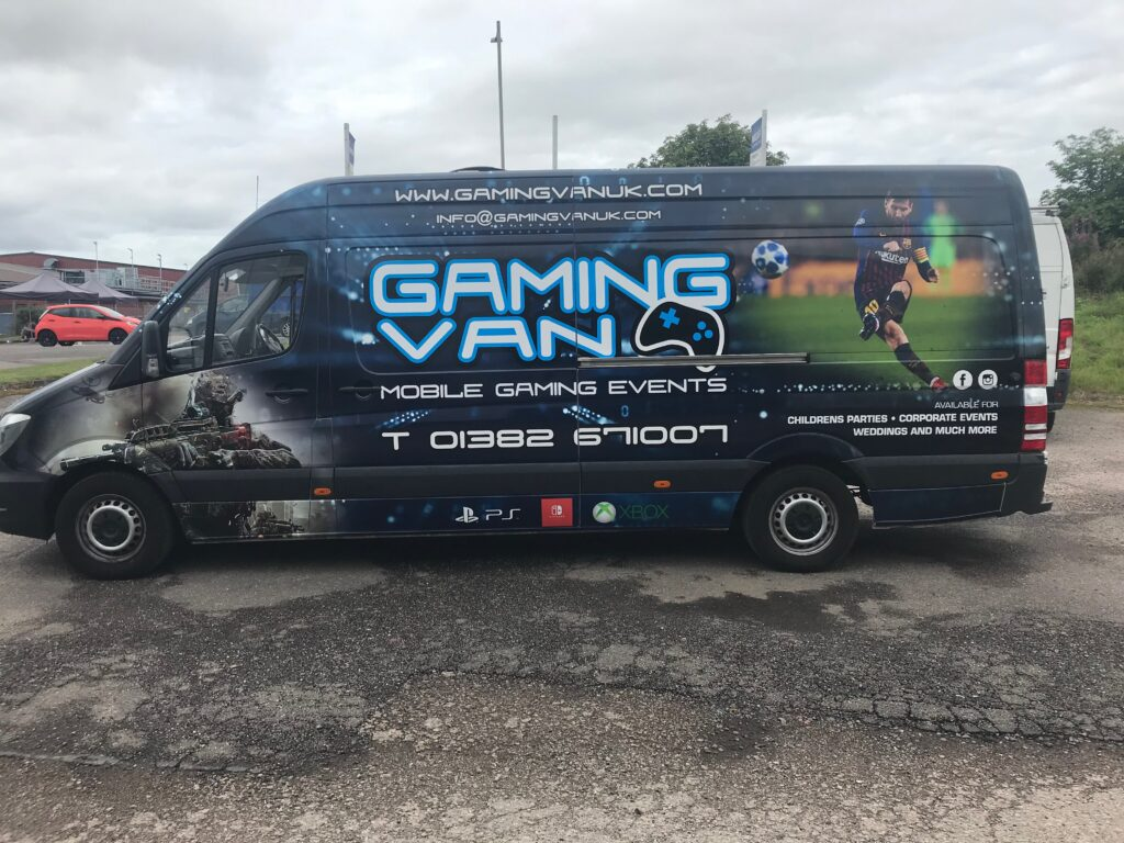 gaming van livery work recently completed