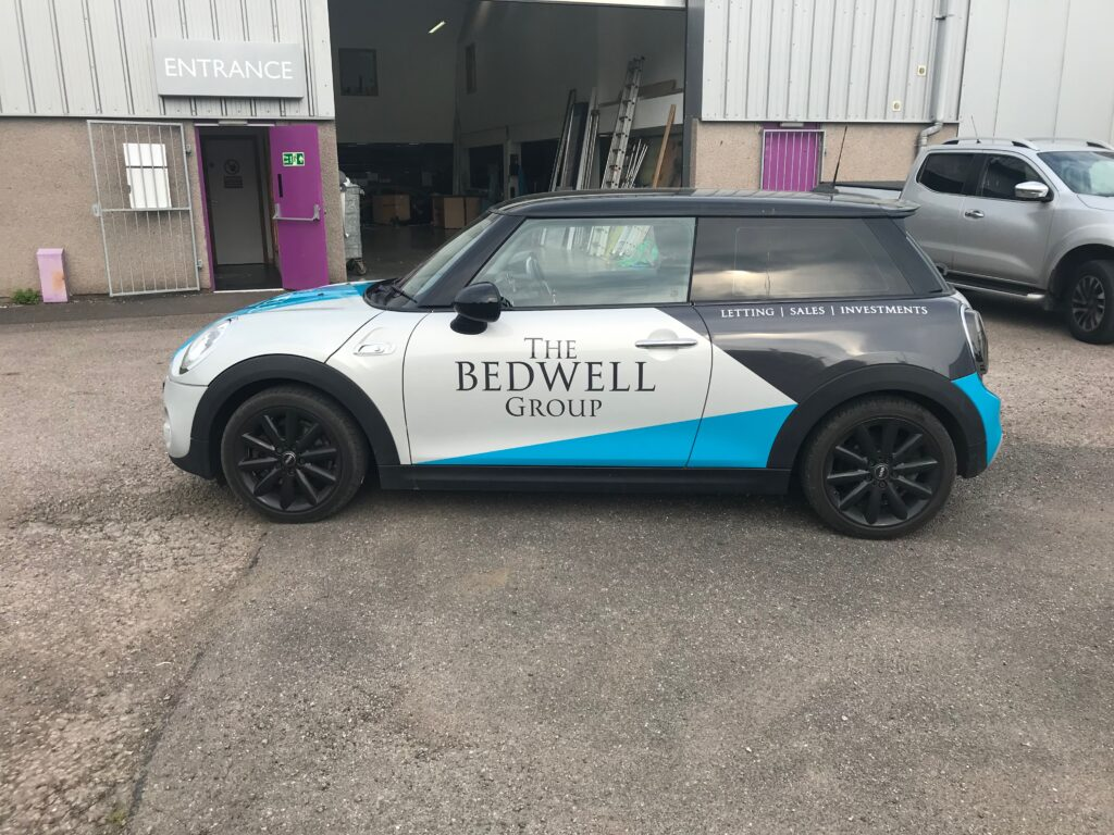 the bedwell group car outside keillors