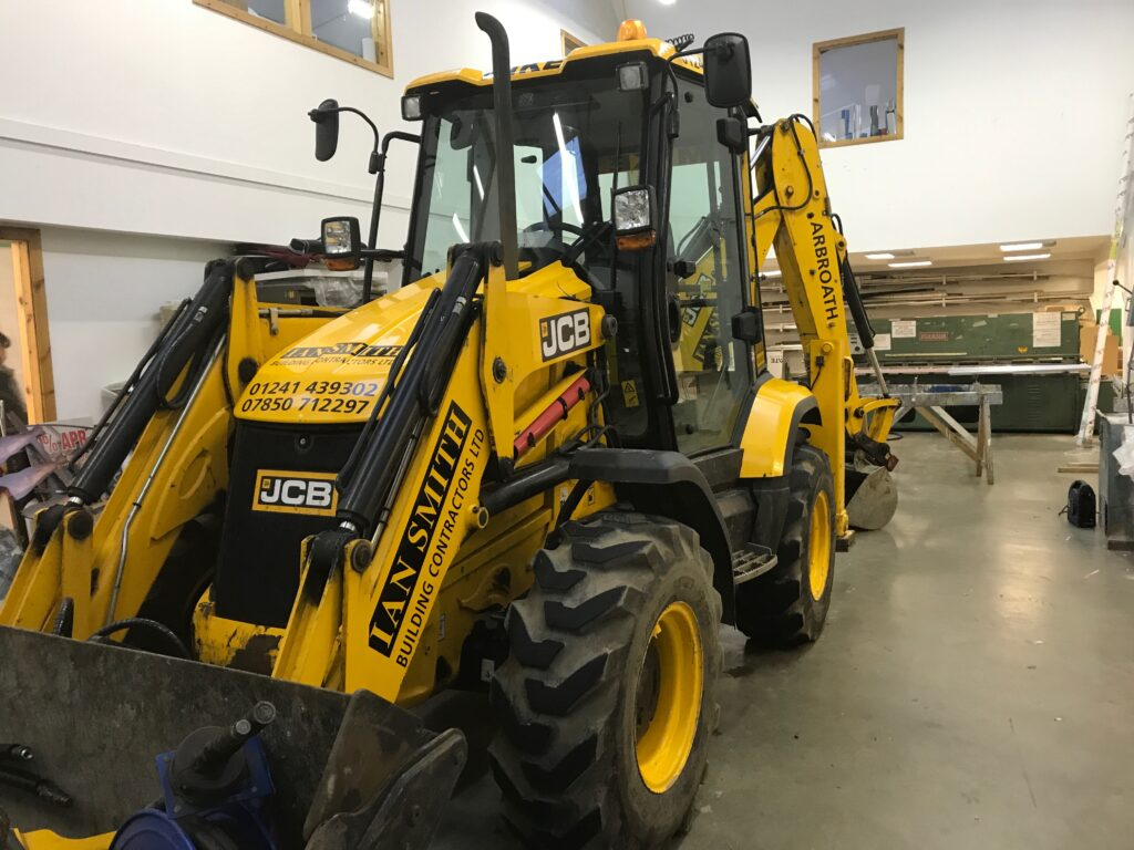 tractor inside keillor office