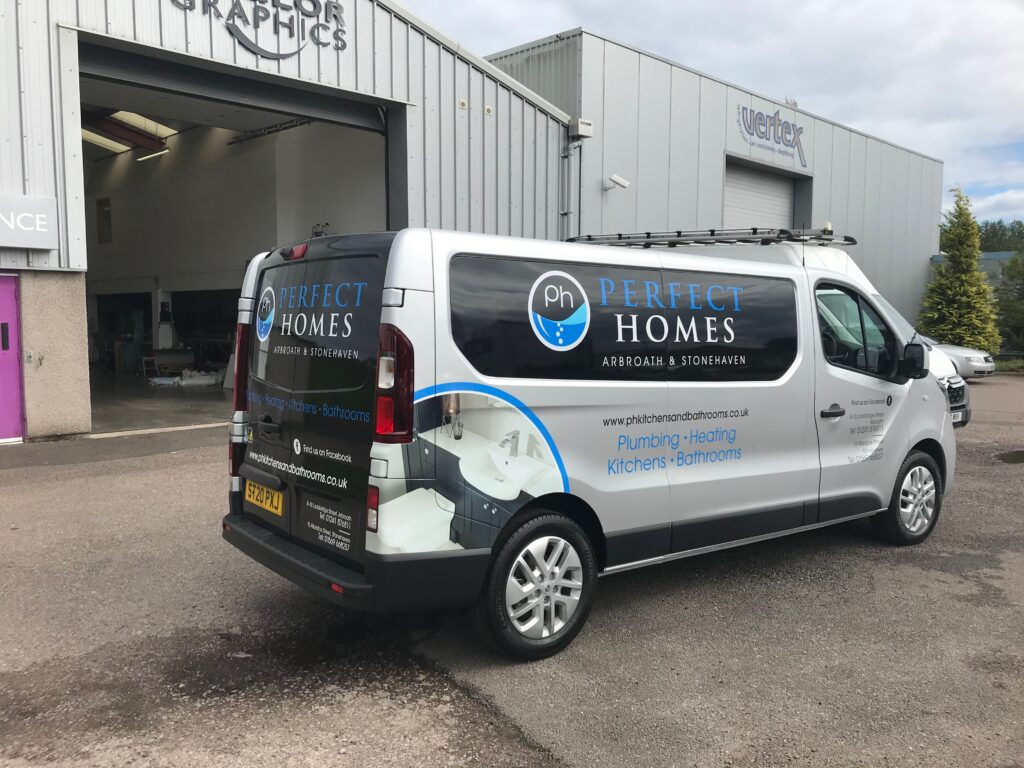 perfect homes van with livery