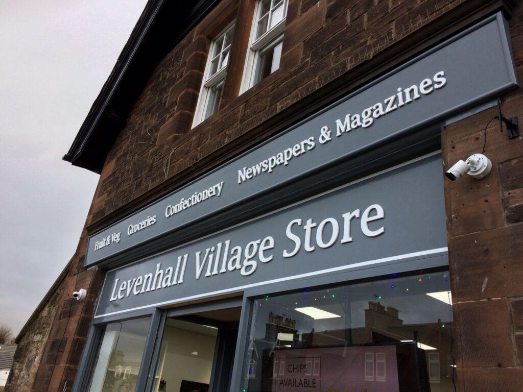 Shop fascia for Levenhall Village Store