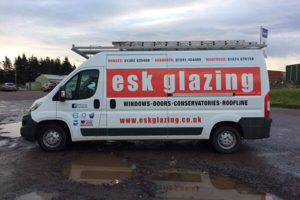 completed esk glazing vehicle livery