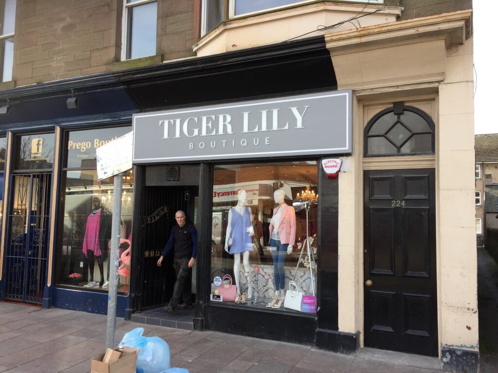 Outside Tiger Lily Boutique