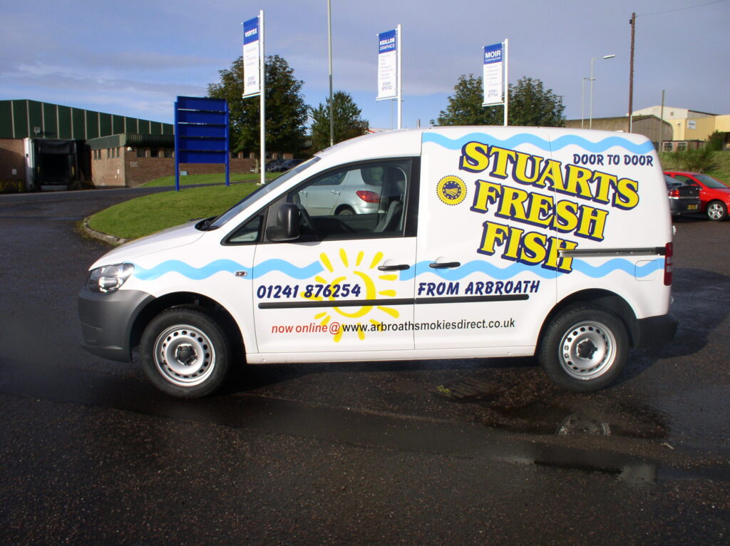 Stuarts Fresh Fish van livery
