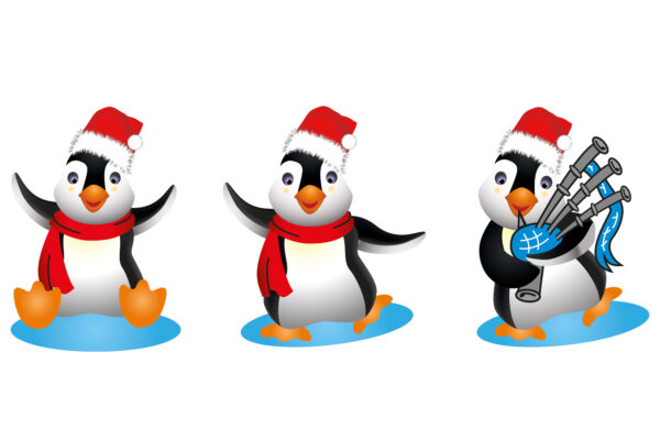 3 Piper Penguins at Christmas