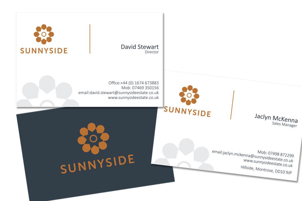 Business cards for Sunnyside Estate
