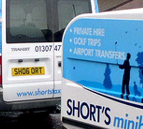 Shorts Minibus Vehicle Livery
