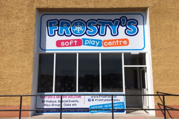 Entrance for Frostys play centre
