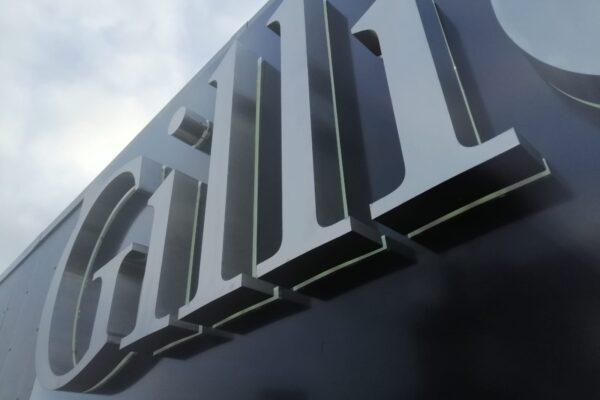 Close up of Gillies logo