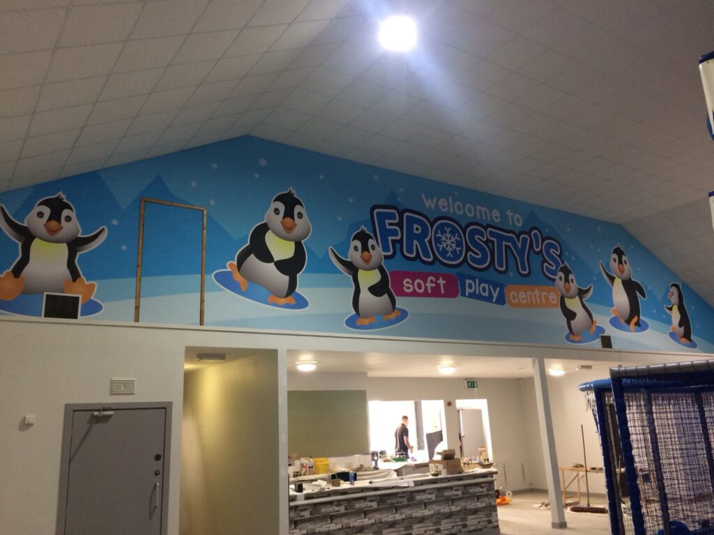 Frostys soft play centre banner