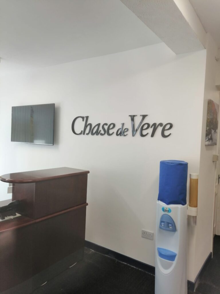 Chase de Vere wall signage