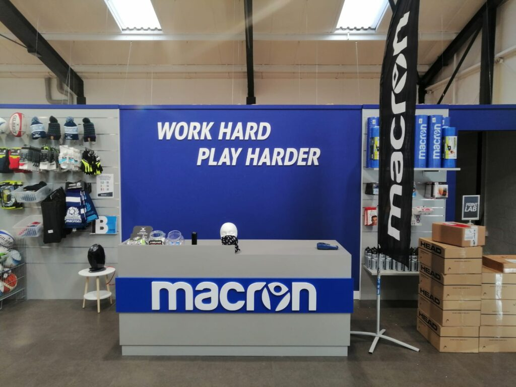 Work hard play hard macron exhibition