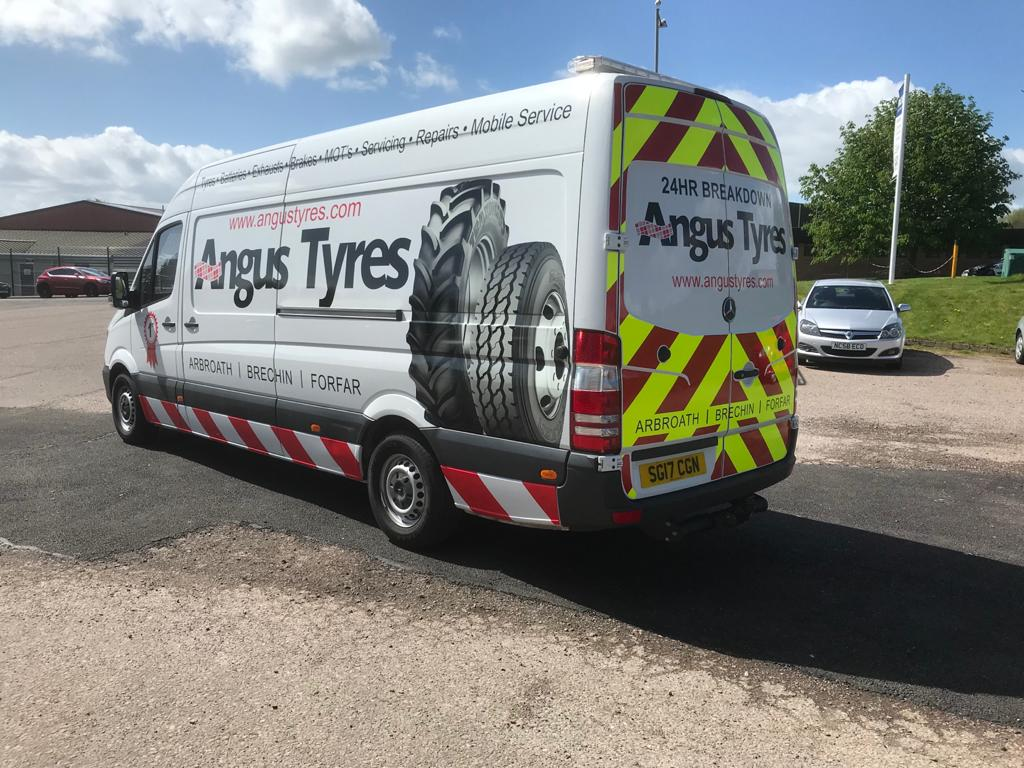 angus tyres livery work