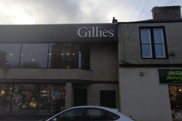 Gillies logo recently installed