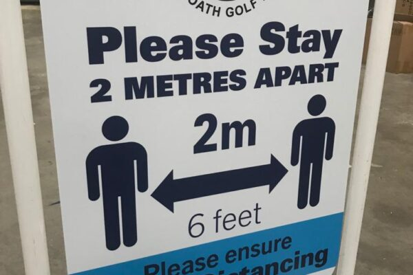 arbroath golf links pavement signs