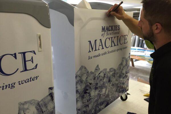 mackies of scotland design installation