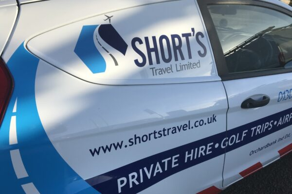 Close up of Shorts Travel Livery