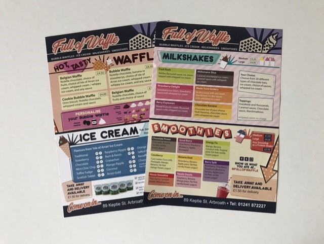 leaflets for full of waffle