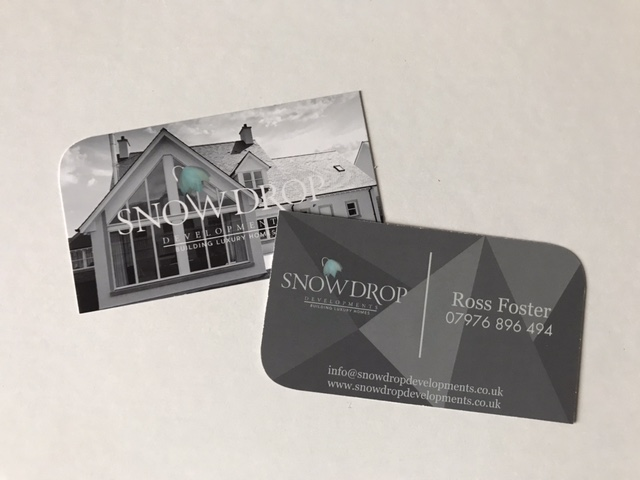 business cards for snowdrop