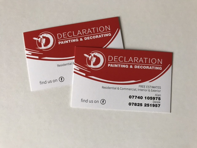 declaration business cards