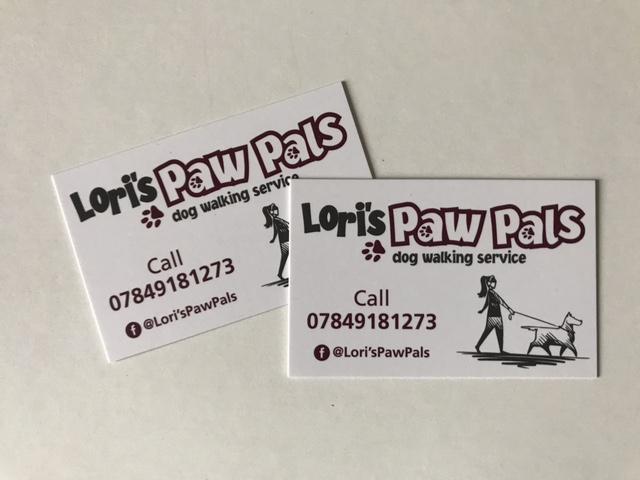 loris paw pals business cards