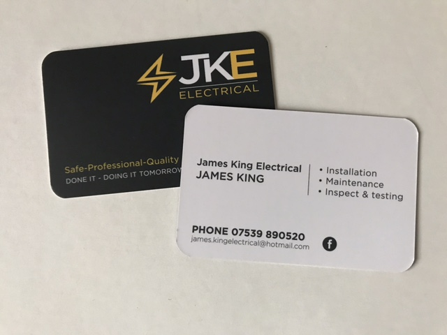 jka electrical business cards