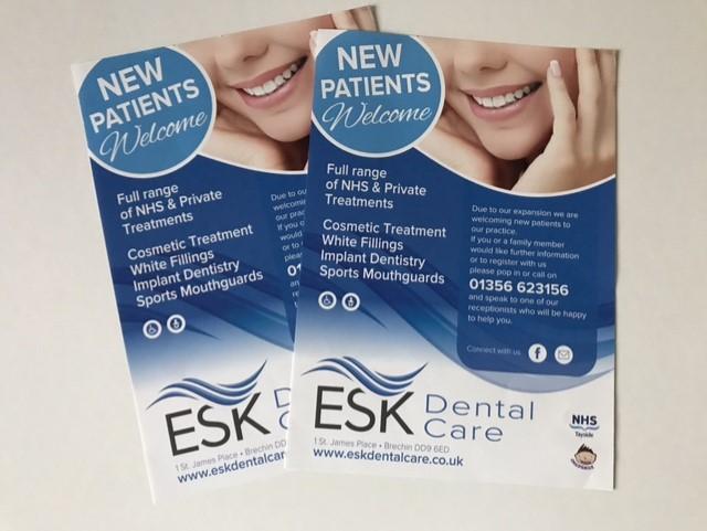 esk dental care leaflets
