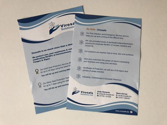 virosafe leaflet design