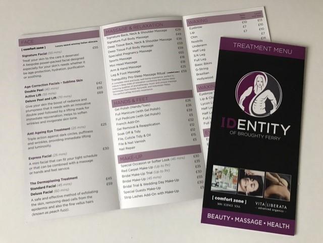 identity price leaflets