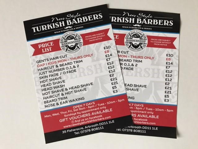 turkish barbers pricing design