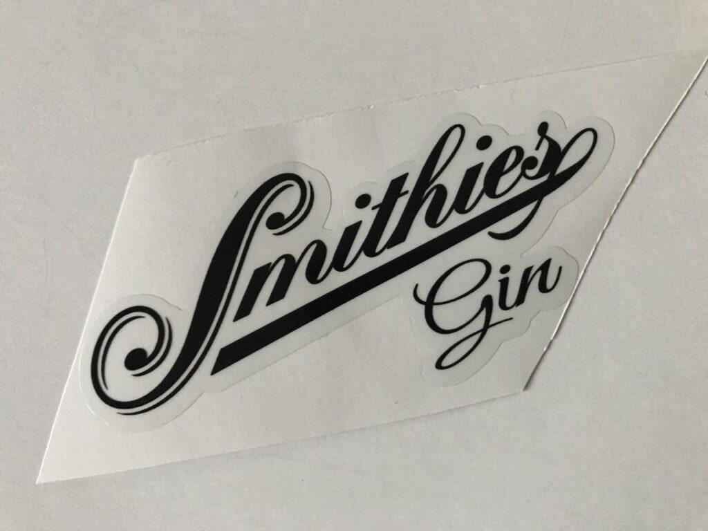 smithies gin branding