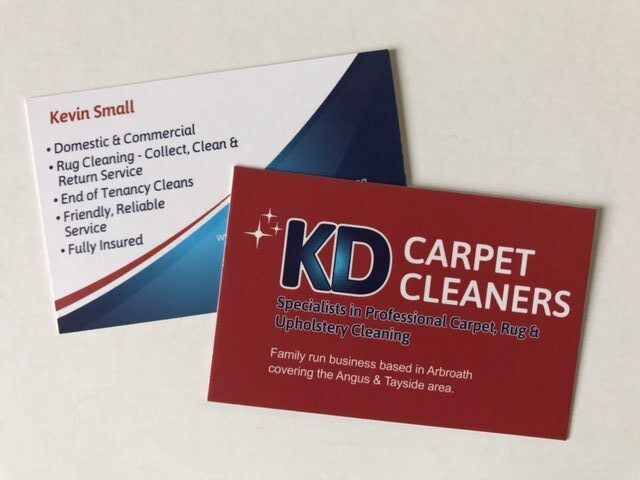 kd carpert cleaners business cards