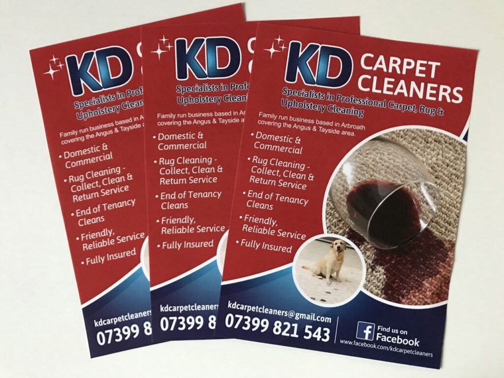 kd carpert cleaners business cards finished