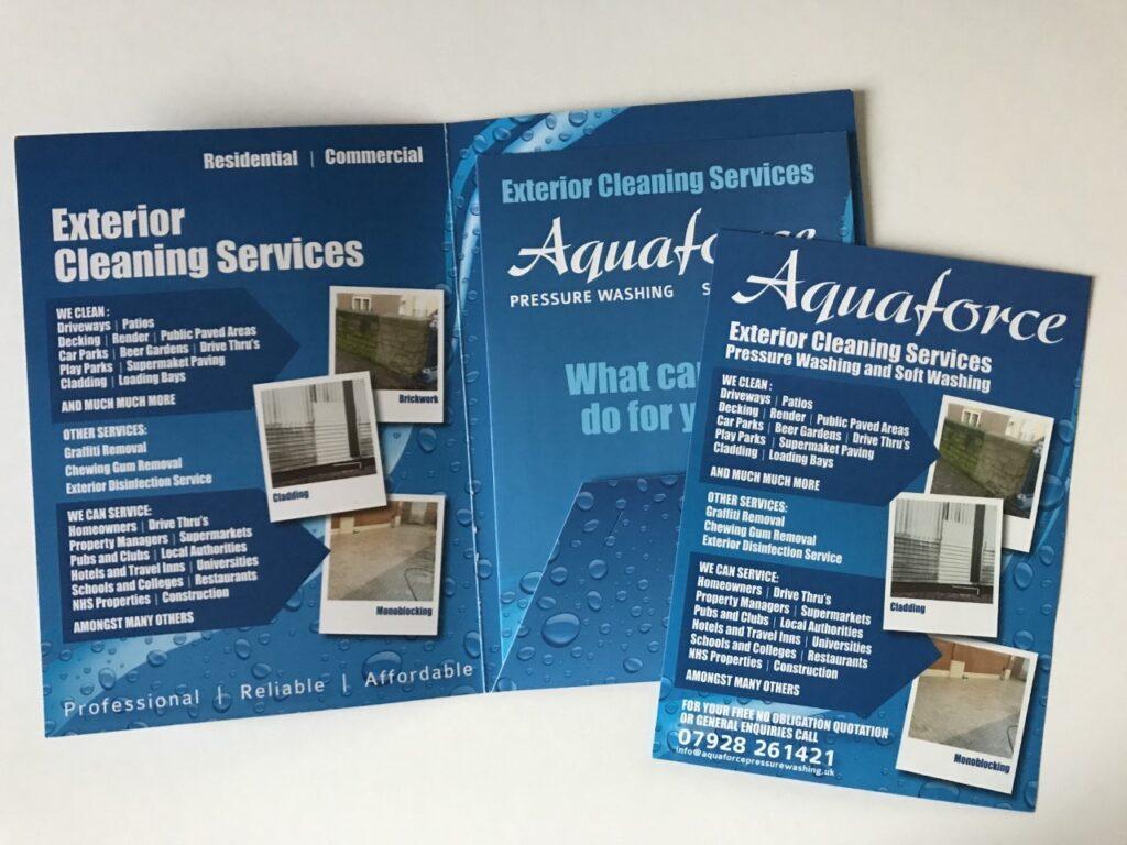 aquaforce leaflet design