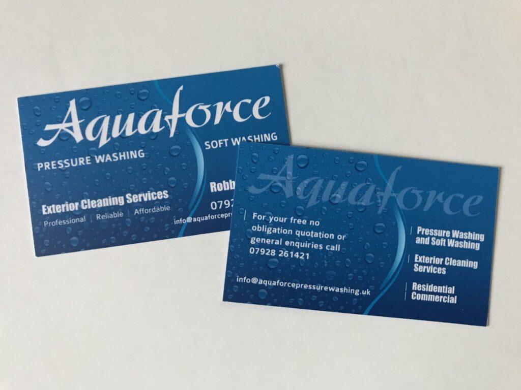 aquaforce business cards