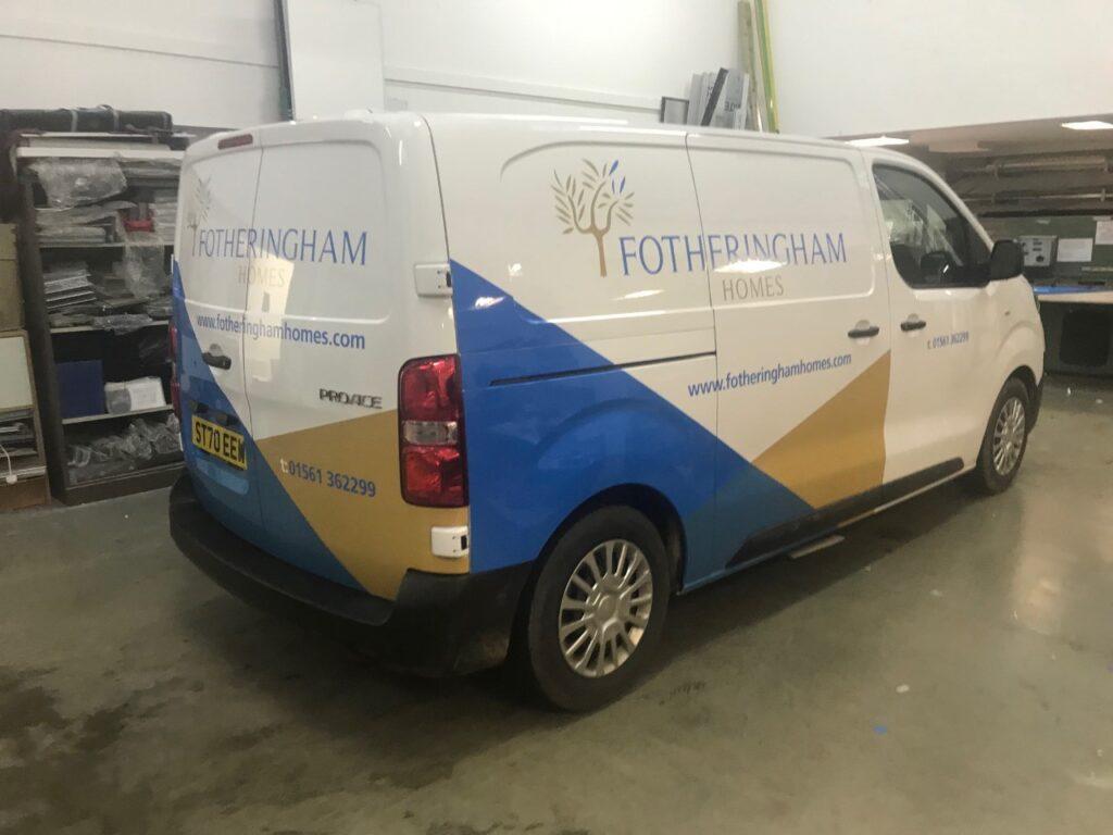 finished fotheringham van in factory