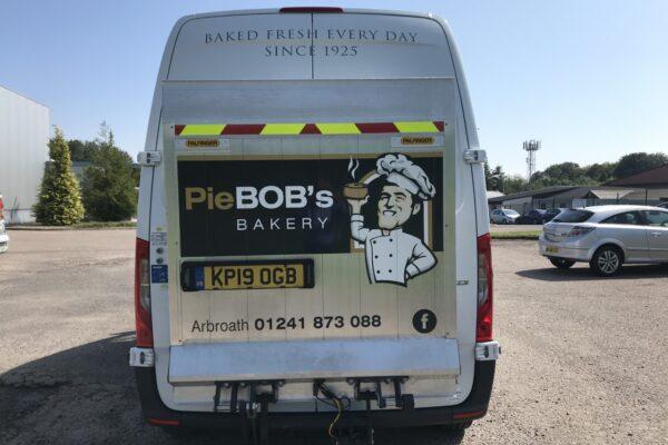 Back of Pie Bobs Bakery Van