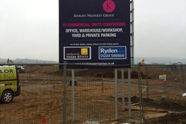 knight properties group signage work