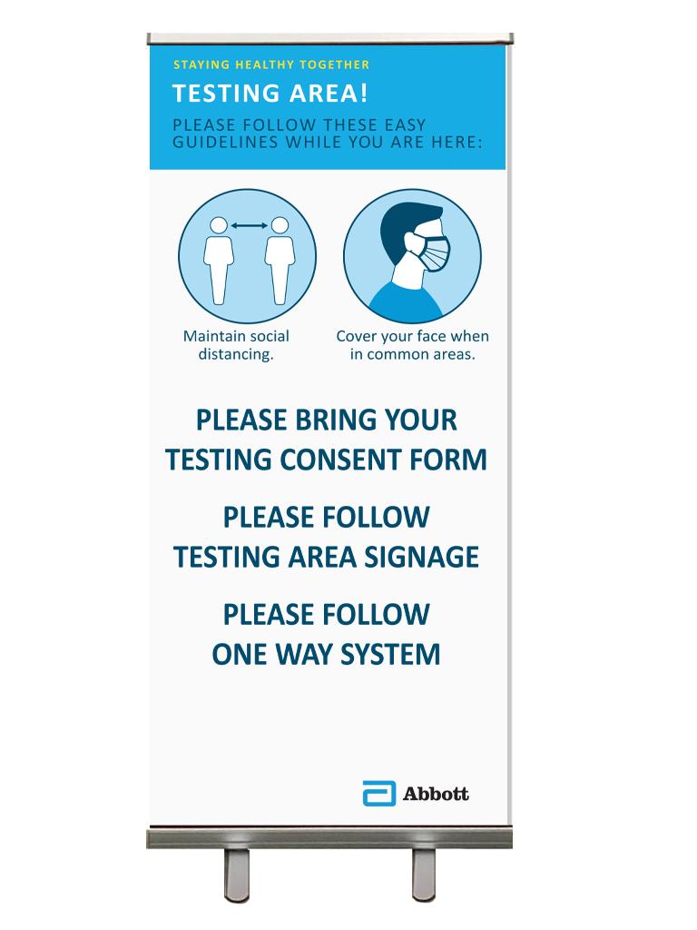Testing board for Abbott