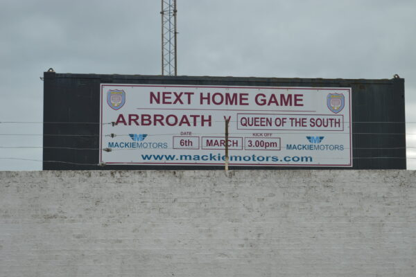Next home game advertising board